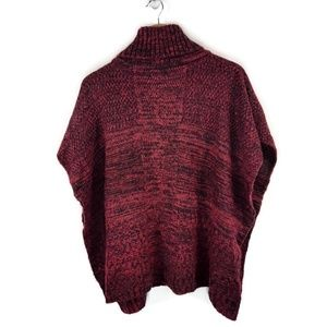 Apt. 9 Patchwork Turtleneck Sweater Poncho NWOT